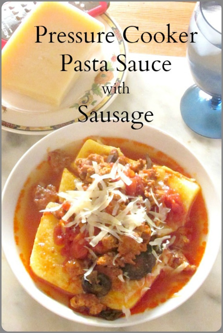 Are you looking for new recipes for your new electric pressure cooker? Try this quick and easy pasta sauce with Italian sausage!