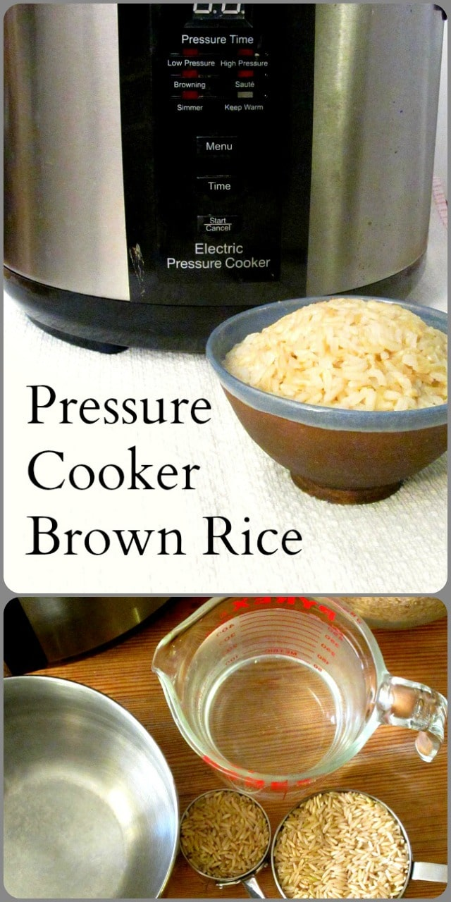 Use the pressure cooker for brown rice - half an hour, start to finish!