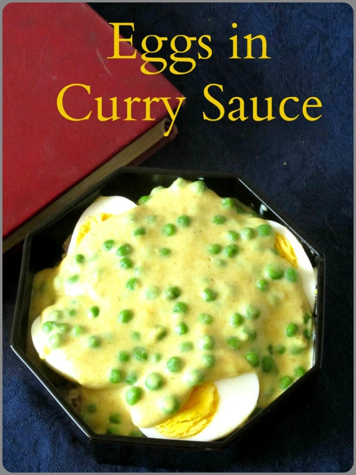 Eggs in Curry Sauce - Fast and easy, meatless, American fusion food, that Grandma made!