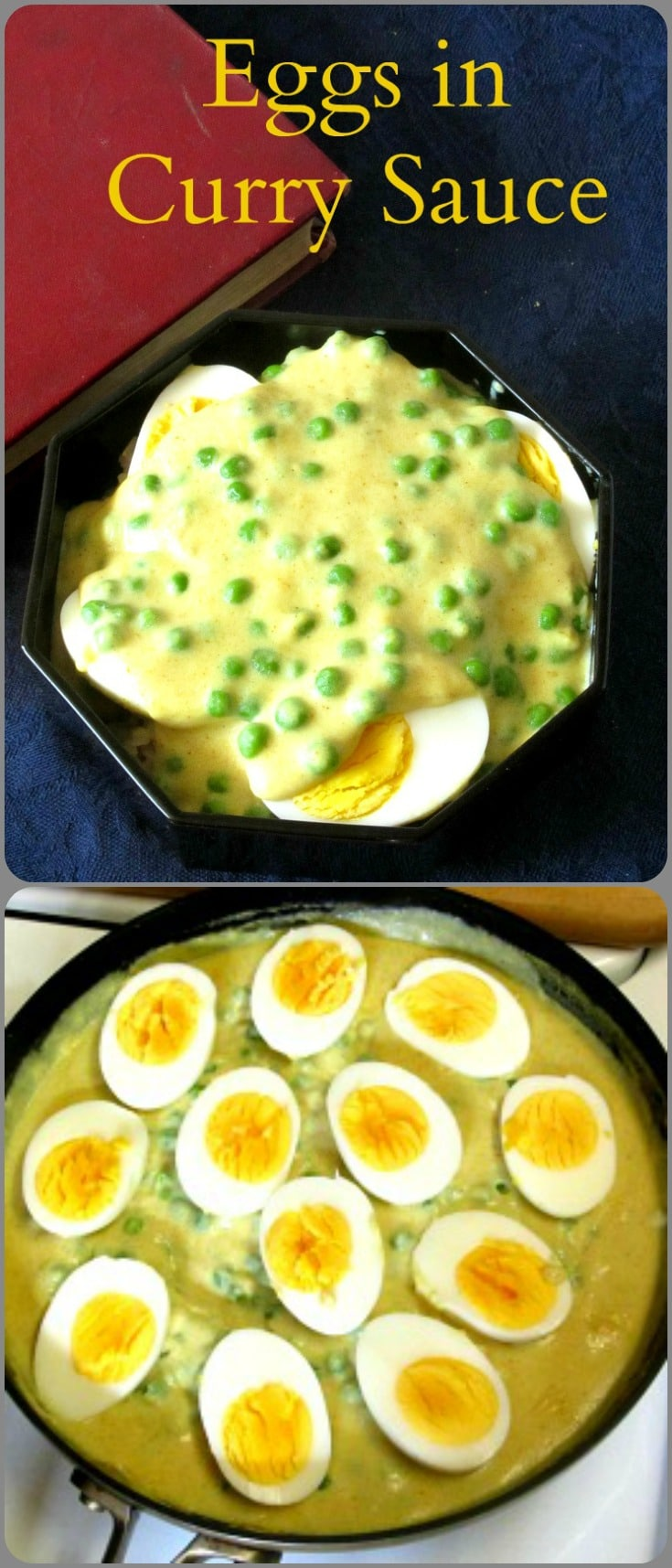 Eggs in Curry Sauce - Fast and easy, meatless, American fusion food, that Grandma made! Gluten Free