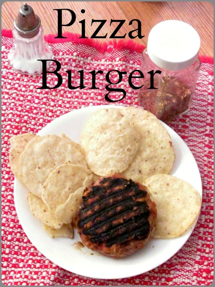 Bored with turkey burgers? Make a Pizza Burger! Moist and flavorful, with seasoning that helps browning,  holds moisture, and improves the taste!