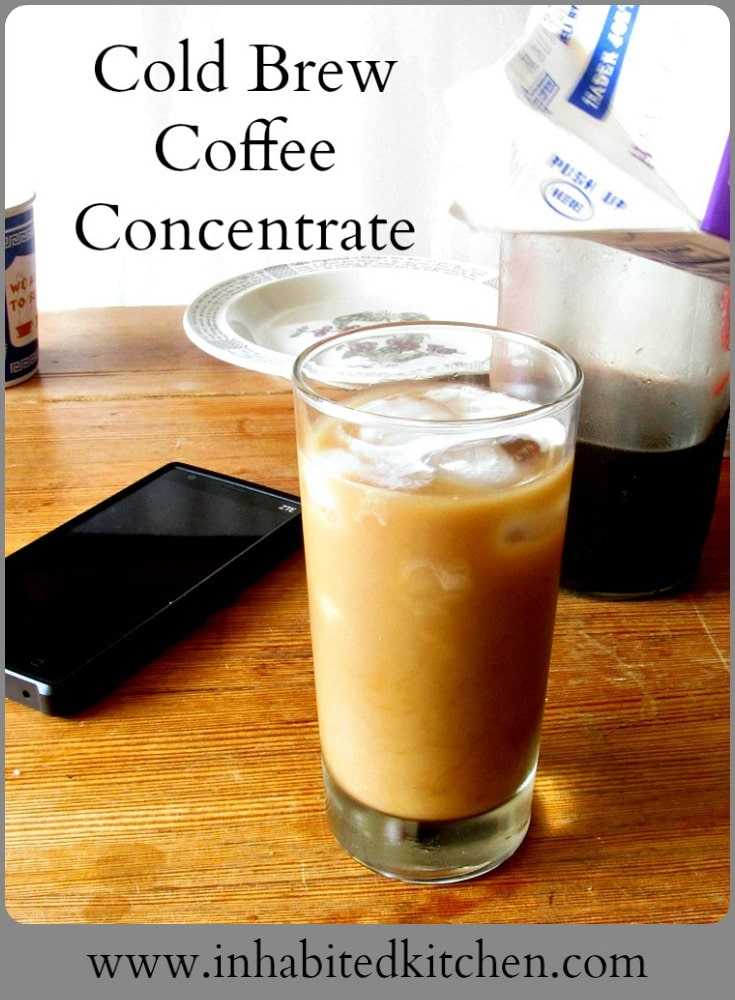 Make cold brew coffee concentrate at home, for the flavor of cold brew and the convenience of instant coffee! Just add water (and ice.)