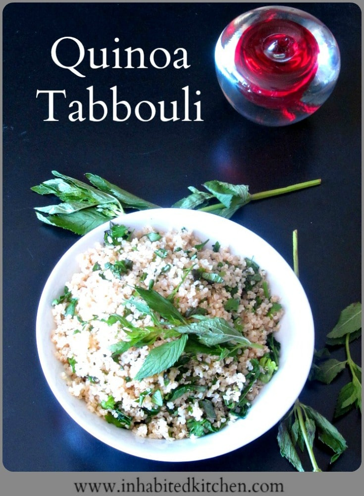 Do you miss tabbouli, if you need to avoid wheat? Gluten free Quinoa Tabbouli works remarkably well, and makes a terrific addition to any salad lunch!