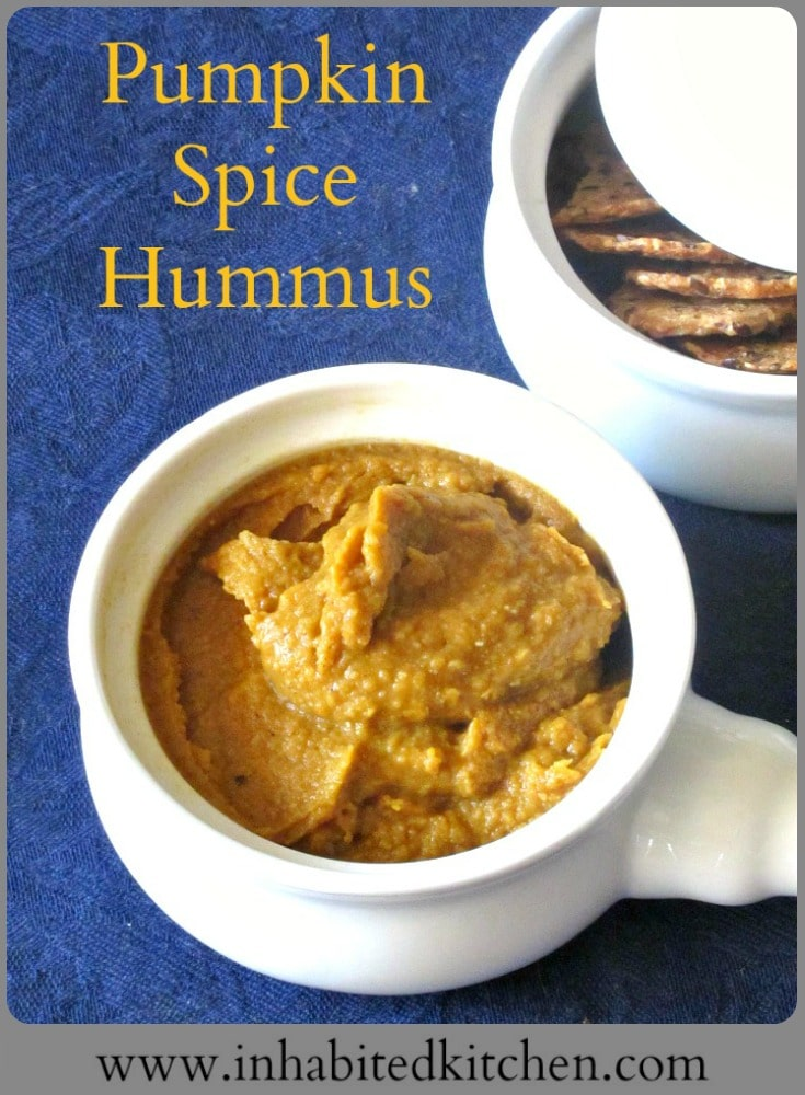 Don't limit Pumpkin Spice to pie or coffee - make and enjoy Pumpkin Spice Hummus as a spread of dip! Delicious at lunch, fun for a party!
