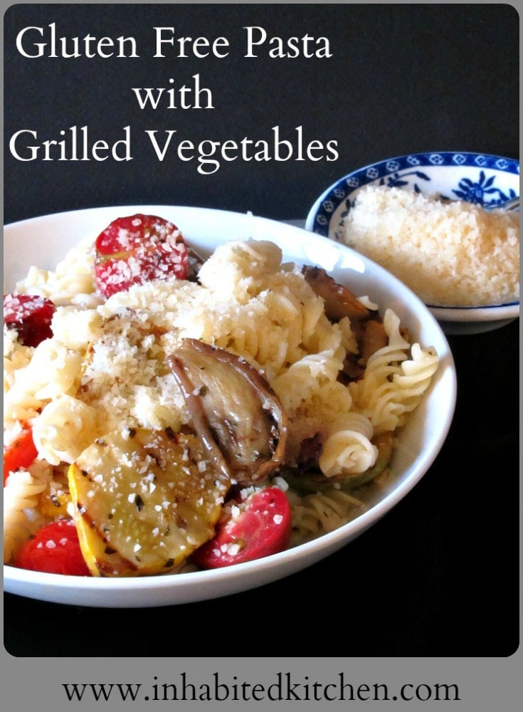 If you grill a batch of vegetables, it's easy to serve them in a variety of ways - such as this Gluten Free Pasta with Grilled Vegetables!
