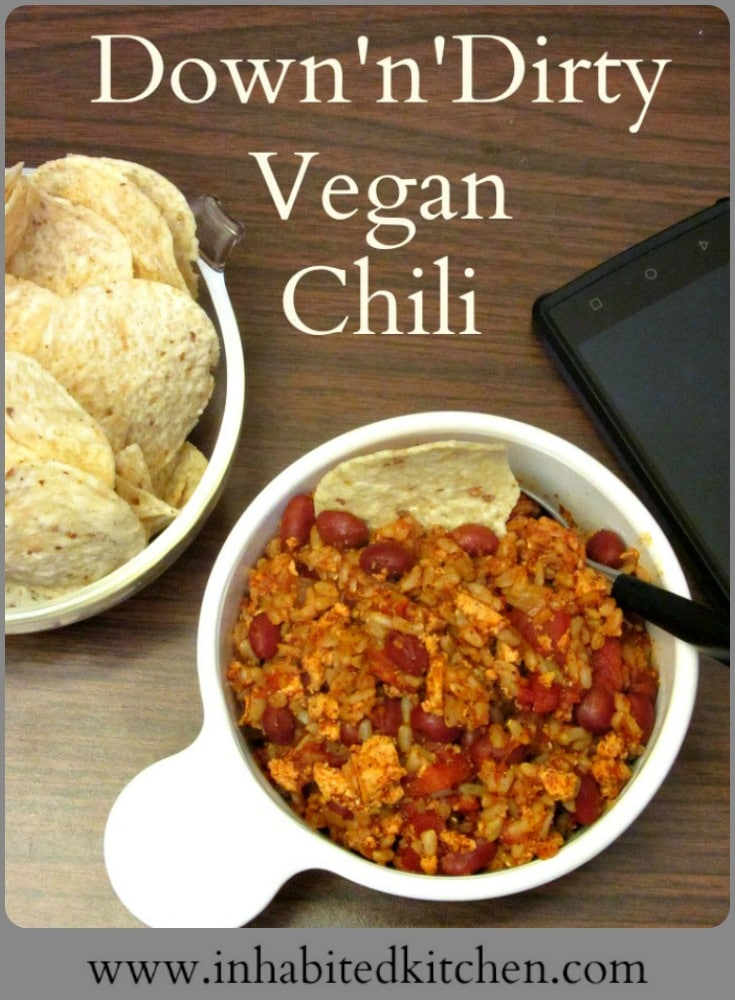 A super simple, fast, and easy vegan chili for those days you Just Can't Cook (but need to anyway...)