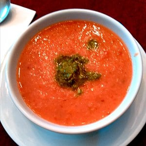 Lunch - A bowl of creamy tomato soup