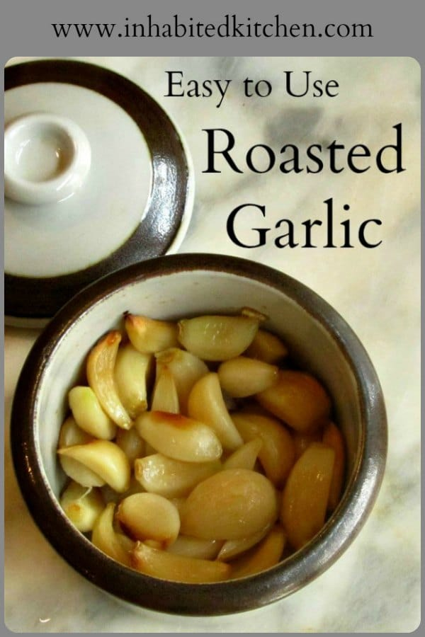 Delicious roasted garlic can be so messy and annoying to use! Here's a method to prepare it that takes a little work upfront, but gives you a neat and easy to use condiment.