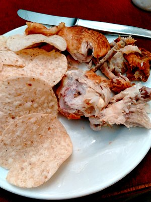 WIAW 195 - roast chicken and tortilla chips