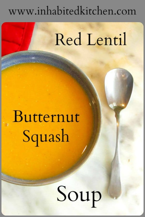 Add butternut squash to basic red lentil soup, and enjoy the flavor sensation! Simple and easy to make, this delicate orange-colored soup will keep people guessing!