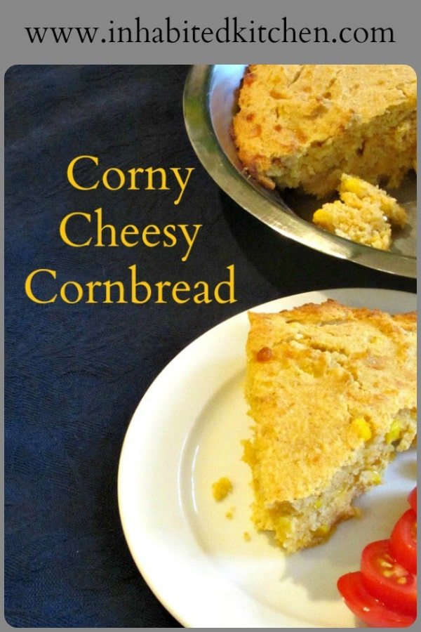 Add corn and cheese to cornbread to make Corny Cheesy Cornbread - a terrific side dish that's interesting in itself, without overwhelming your main dish!