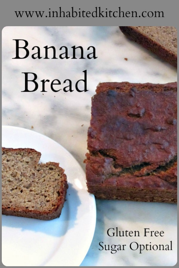 Gluten free banana bread - moist, rich, and only as sweet as you want it! Bake he version of the Sugar Optional recipe that suits your own family.