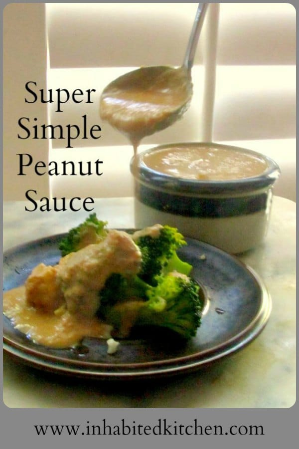 Super Simple Peanut Sauce has been a fixture in my kitchen for many years, for its ease and versatility. You've enjoyed variations - here is the original! #peanut #sauce