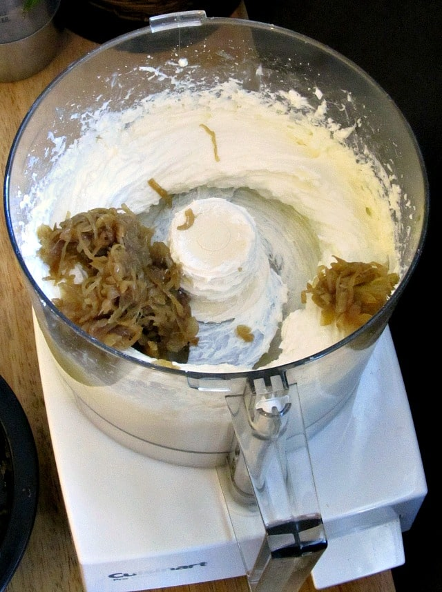 Cheese and Onion Marmalade in food processor