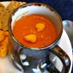 A cup of Red Pepper Soup
